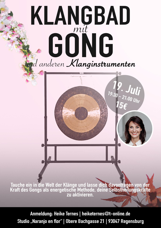 Klangbad mit Gong und anderen Klanginstrumenten