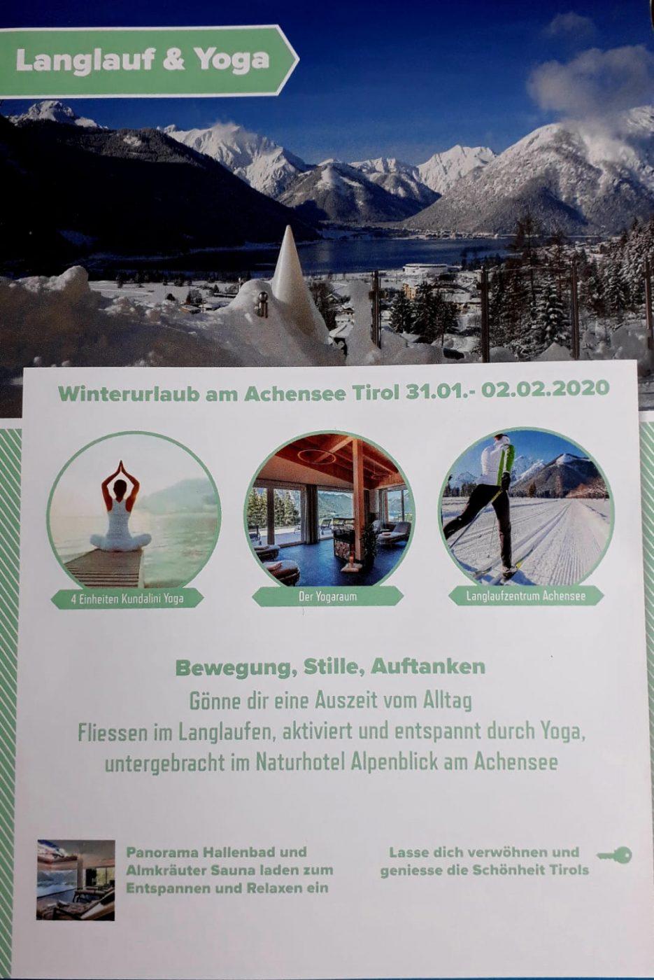 Langlaufen-Wandern-Yoga am Achensee vom 09. – 11.04.21